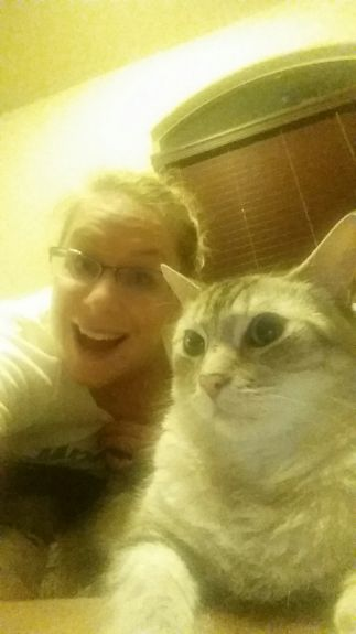 Amateur selfie-taker